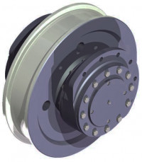Idle wheels with flanged housings